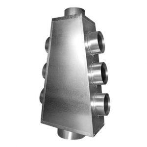 Distribuitor aer cald Fi 125 – 7 x 125